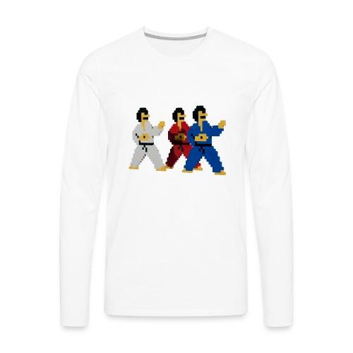 8 bit trip ninjas 1 - Men's Premium Longsleeve Shirt