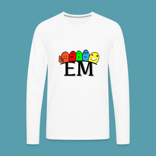 EM - Miesten premium pitkähihainen t-paita