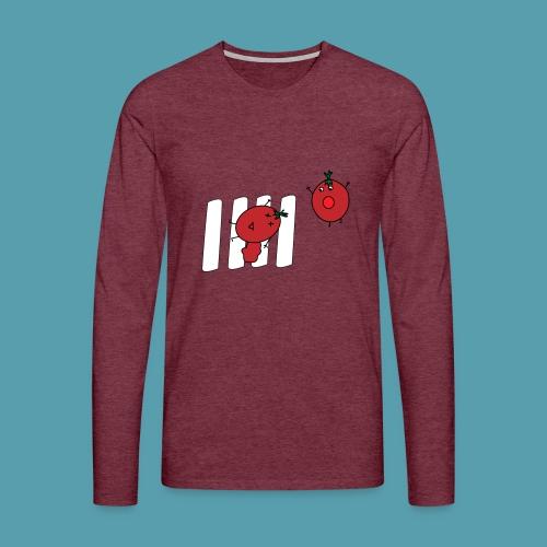 tomaatit - Miesten premium pitkähihainen t-paita