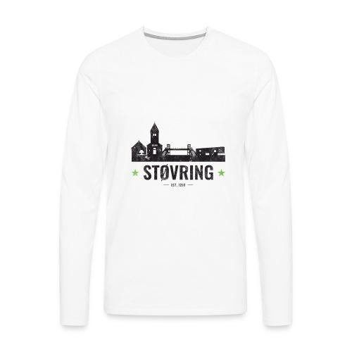 Støvring City Black Green - Herre premium T-shirt med lange ærmer
