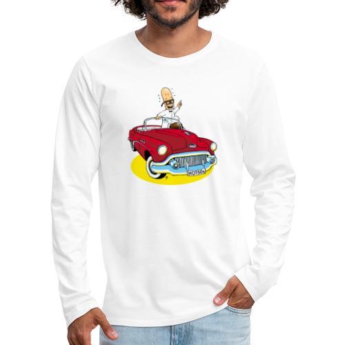 Herr Bohnemann im Buick - Männer Premium Langarmshirt