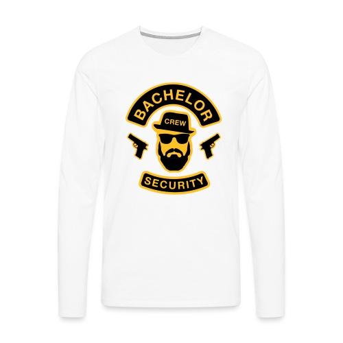 Bachelor Security - JGA T-Shirt - Bräutigam Shirt - Männer Premium Langarmshirt