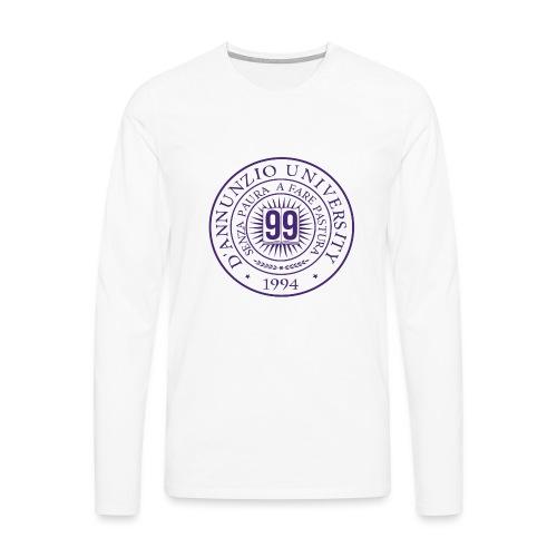 99 COSSE LOGO - Maglietta Premium a manica lunga da uomo
