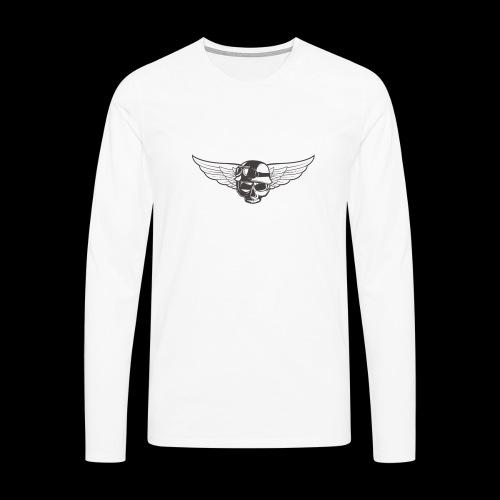 Biker skull - Men's Premium Longsleeve Shirt