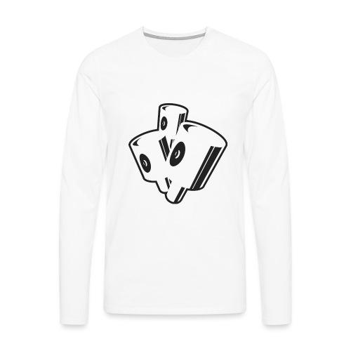 New Yorker Fat Caps - Herre premium T-shirt med lange ærmer