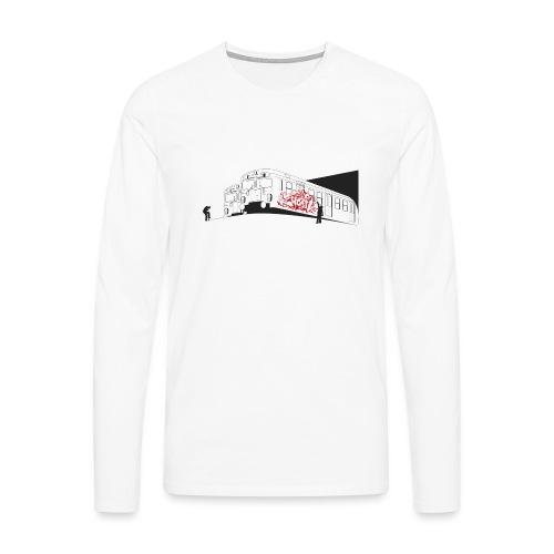 Throw up graffiti trains - 2wear Classics - Herre premium T-shirt med lange ærmer