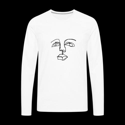 One-line man - Premium langermet T-skjorte for menn