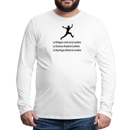 Lumière Religion Science Mystique - T-shirt manches longues Premium Homme