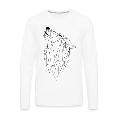 Geo Wolf - Mannen Premium shirt met lange mouwen