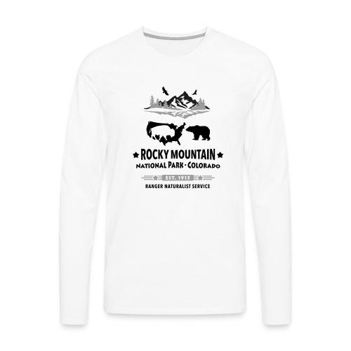 Rocky Mountain Nationalpark Berg Bison Grizzly Bär - Men's Premium Longsleeve Shirt