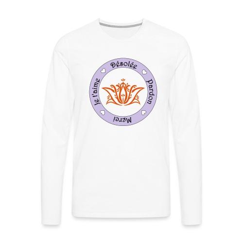 Tee shirt Bio Femme Ho oponopono - Men's Premium Longsleeve Shirt