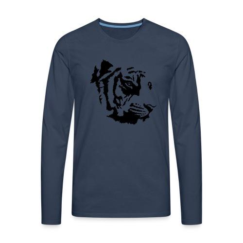 Tiger head - T-shirt manches longues Premium Homme