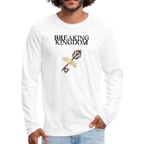 BK-Weißes-Design - Männer Premium Langarmshirt