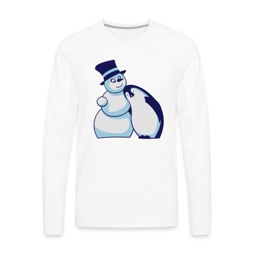 Schneemann und Pinguin - Männer Premium Langarmshirt