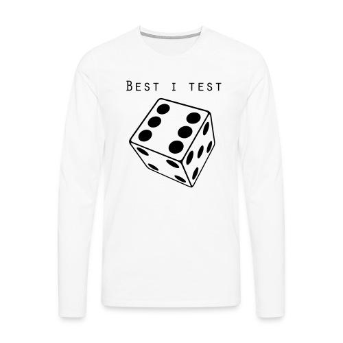 Best i test - Premium langermet T-skjorte for menn