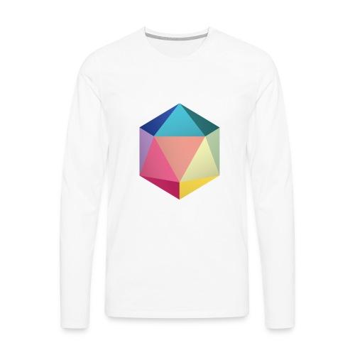 Colourfull d20 - D&D Dungeons and dragons dnd - Miesten premium pitkähihainen t-paita