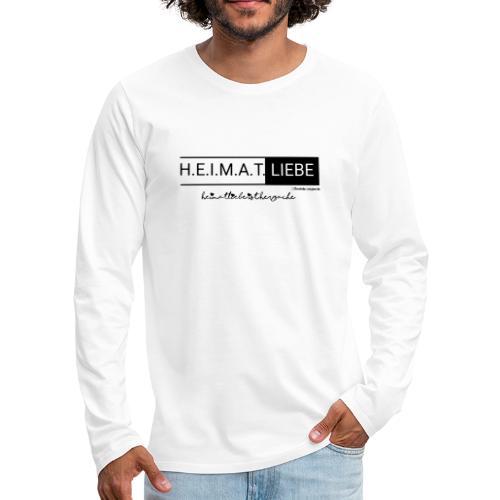 Heimatliebe Herzsache - Männer Premium Langarmshirt