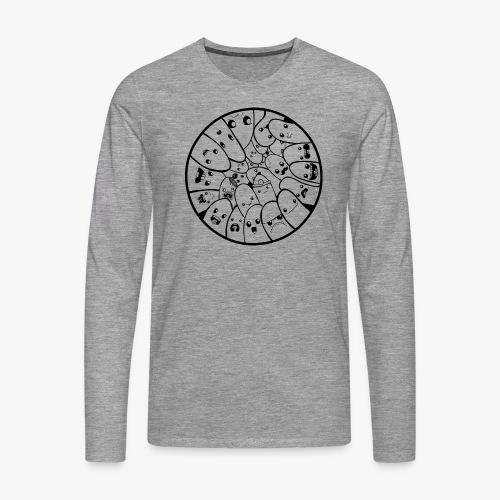 Doodle Faces - Herre premium T-shirt med lange ærmer