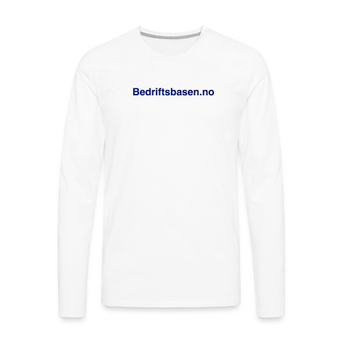 Bedriftsbasen.no logo - Premium langermet T-skjorte for menn