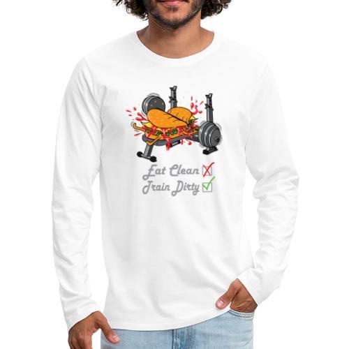 Hamburger Développé Couché Musculation - T-shirt manches longues Premium Homme