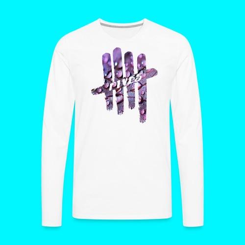 FIVES purple drops - T-shirt manches longues Premium Homme