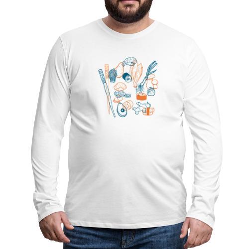 Sushi - Männer Premium Langarmshirt