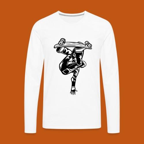Skater / Skateboarder 03_schwarz - Männer Premium Langarmshirt