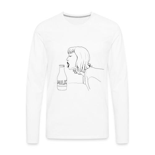 Milk - Männer Premium Langarmshirt