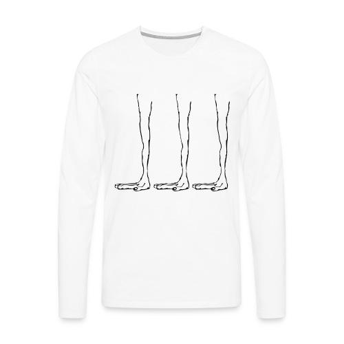 pies aliens - Camiseta de manga larga premium hombre