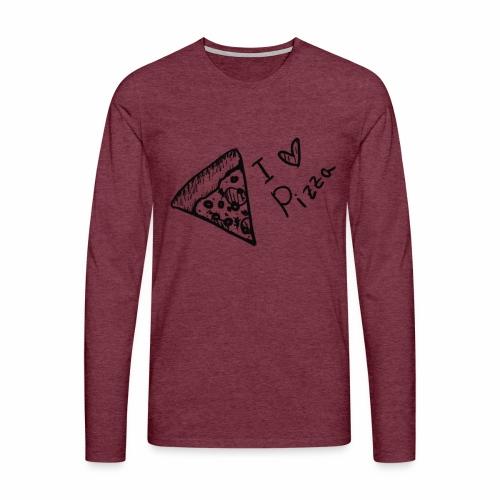I LOVE PIZZA - Männer Premium Langarmshirt
