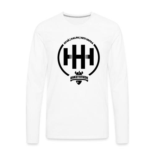 HHH-konsultit logo - Miesten premium pitkähihainen t-paita