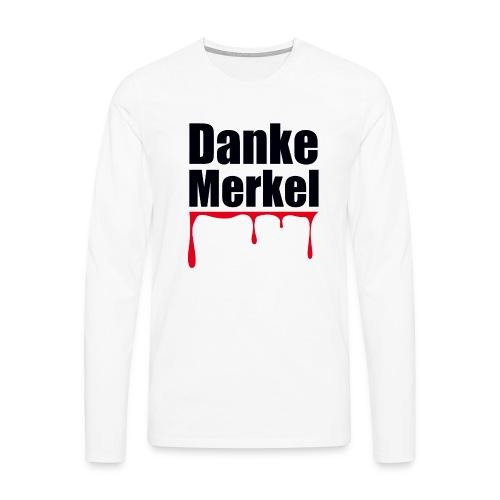 Danke Merkel - Männer Premium Langarmshirt