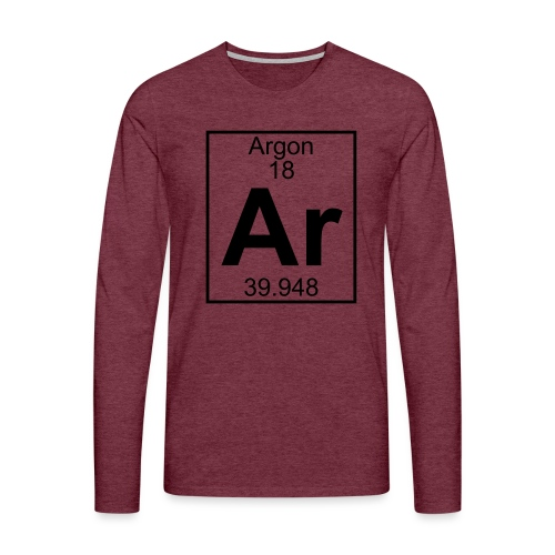 Argon (Ar) (element 18) - Men's Premium Longsleeve Shirt