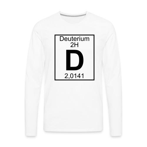 D (Deuterium) - Element 2H - pfll - Men's Premium Longsleeve Shirt