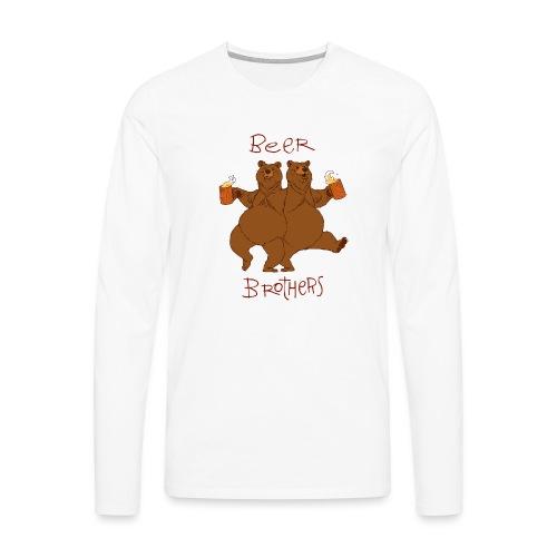 BEER BROTHERS - Koszulka męska Premium z długim rękawem
