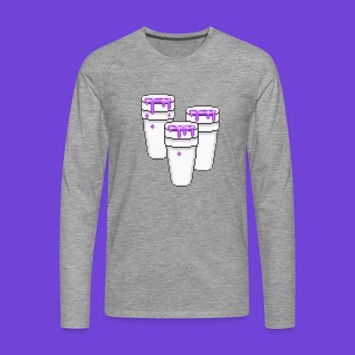 Purple - Maglietta Premium a manica lunga da uomo