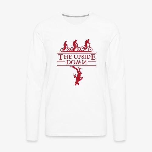 upside down - Koszulka męska Premium z długim rękawem