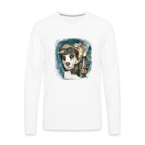Steampunk Dog #2b - Maglietta Premium a manica lunga da uomo