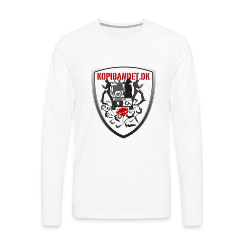 KopiBandet.DK Våbenskjold - Herre premium T-shirt med lange ærmer