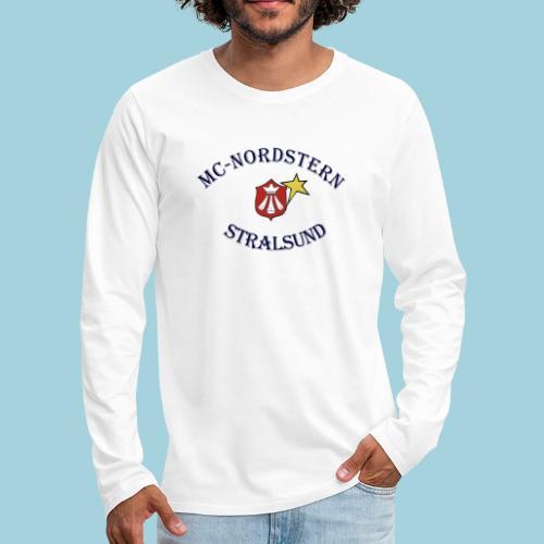 MC Nordstern Schrift gebogen - Männer Premium Langarmshirt