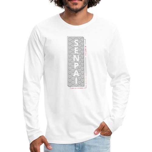 Senpai anime shirt - Notice me senpai - Mannen Premium shirt met lange mouwen