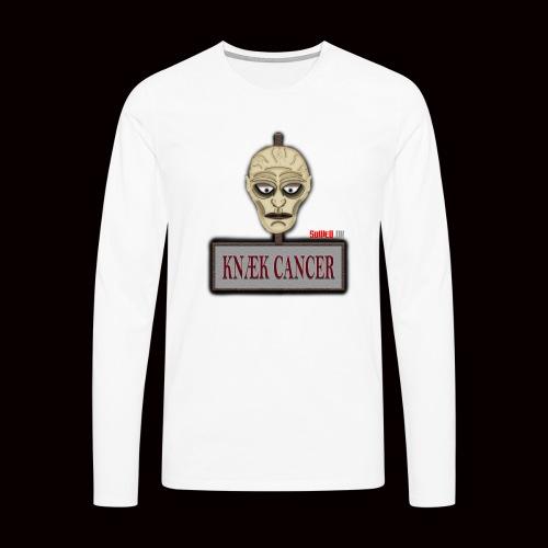 Knæk Cancer Kollektion ! - Herre premium T-shirt med lange ærmer