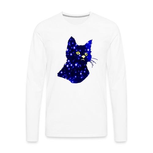 Galactic Cat - T-shirt manches longues Premium Homme