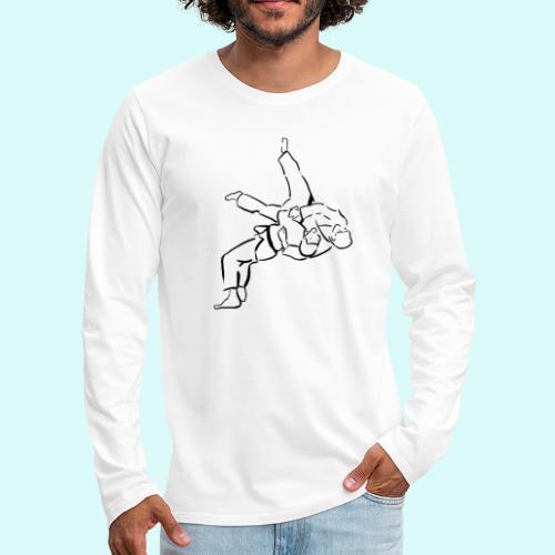 judo - T-shirt manches longues Premium Homme
