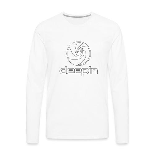 deepinlogotrasparente - Maglietta Premium a manica lunga da uomo