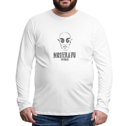 Nosferatu Horrorfilm Horror Gruselig - Männer Premium Langarmshirt