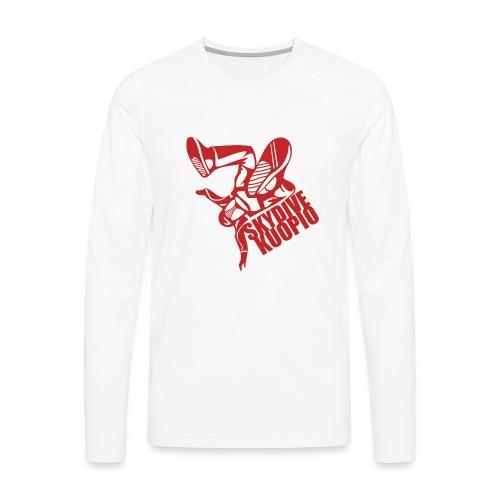 KLU logo red - Miesten premium pitkähihainen t-paita