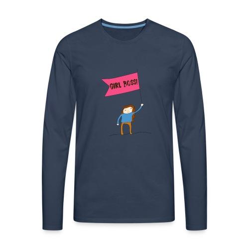 Gurl boss - Camiseta de manga larga premium hombre