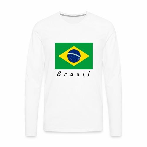 Brasil - Männer Premium Langarmshirt