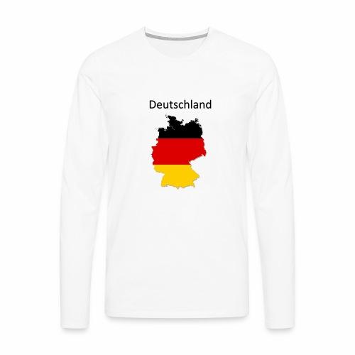 Deutschland Karte - Männer Premium Langarmshirt